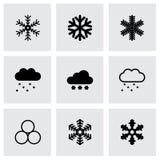 Ensemble d'icône de neige de vecteur Image stock