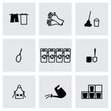 Ensemble d'icône de nettoyage de vecteur Photographie stock libre de droits
