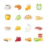 Ensemble d'icône de nourriture de petit déjeuner illustration libre de droits