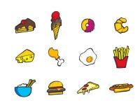 Ensemble d'icône de nourriture de vecteur Image libre de droits