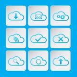 Ensemble d'icône de nuages Photo libre de droits