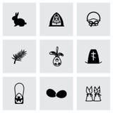 Ensemble d'icône de Pâques de vecteur Images libres de droits