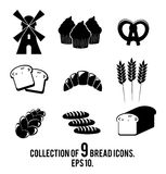 Ensemble d'icône de pain Image stock