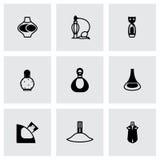 Ensemble d'icône de parfum de vecteur Image libre de droits