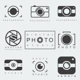 Ensemble d'icône de photographie Photo libre de droits