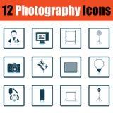 Ensemble d'icône de photographie illustration de vecteur