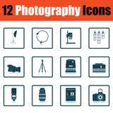 Ensemble d'icône de photographie illustration stock