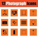 Ensemble d'icône de photographie illustration libre de droits