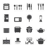 Ensemble d'icône de pièce de cuisine Image stock