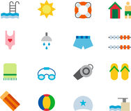 Ensemble d'icône de piscine Image libre de droits