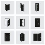 Ensemble d'icône de porte de vecteur Photographie stock libre de droits
