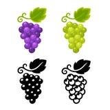 Ensemble d'icône de raisins Images stock