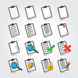 Ensemble d'icône de rapports Image stock