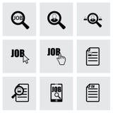 Ensemble d'icône de recherche d'emploi de vecteur illustration stock