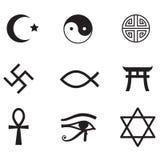 Ensemble d'icône de religion Image libre de droits