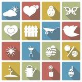 Ensemble d'icône de ressort Illustration de vecteur Photos libres de droits
