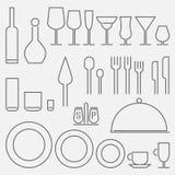 Ensemble d'icône de restaurant Photographie stock libre de droits
