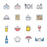 Ensemble d'icône de restaurant Photos stock