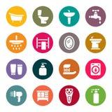 Ensemble d'icône de salle de bains Image libre de droits