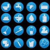 Ensemble d'icône de salle de bains Images stock