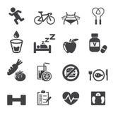 Ensemble d'icône de santé illustration stock
