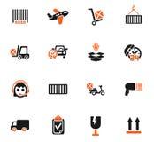 Ensemble d'icône de service de distribution illustration de vecteur