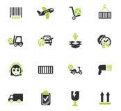 Ensemble d'icône de service de distribution Photo libre de droits