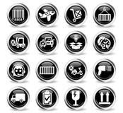 Ensemble d'icône de service de distribution Photographie stock libre de droits