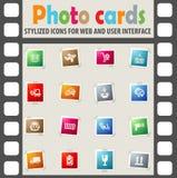 Ensemble d'icône de service de distribution Photos libres de droits