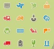 Ensemble d'icône de service de distribution Image libre de droits