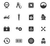 Ensemble d'icône de service de voiture images stock