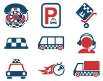 Ensemble d'icône de services de taxi Photographie stock libre de droits