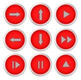 Ensemble d'icône de signe de flèche Photos stock