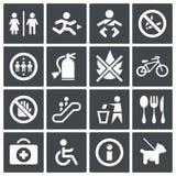 Ensemble d'icône de signes d'International de vecteur Illustration Stock