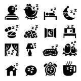 Ensemble d'icône de sommeil Photographie stock libre de droits