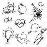 Ensemble d'icône de sport Images stock