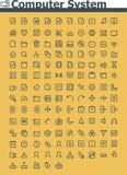 Ensemble d'icône de système informatique Images libres de droits