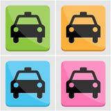 Ensemble d'icône de taxi Photographie stock libre de droits