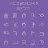 Ensemble d'icône de technologie Photographie stock libre de droits