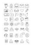 Ensemble d'icône de technologie Image stock