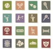 Ensemble d'icône de tennis Image stock