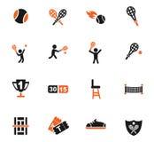 Ensemble d'icône de tennis Photographie stock libre de droits