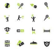 Ensemble d'icône de tennis Images libres de droits