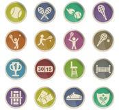 Ensemble d'icône de tennis Photos libres de droits