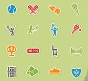 Ensemble d'icône de tennis Photo libre de droits