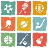 Ensemble d'icône de thème de sports Image stock