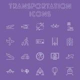 Ensemble d'icône de transport Images libres de droits