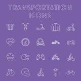 Ensemble d'icône de transport Photos libres de droits