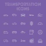 Ensemble d'icône de transport Images stock