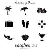 Ensemble d'icône de vacances Image stock